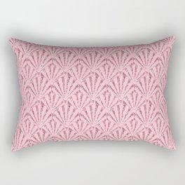 Art Deco Fan / Pink Seashells Rectangular Pillow