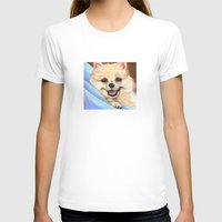 preppy T-shirts featuring Preppy Pomeranian by Britanee LeeAnn Sickles