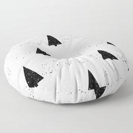 Snowy Forest Floor Pillow