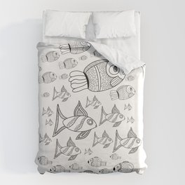School of Fish Duvet Cover