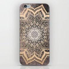 GOLD EARTH FLOWER MANDALA iPhone & iPod Skin