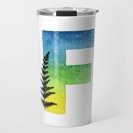 Galaxy Alphabet Series: F Travel Mug