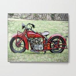 Popular Vintage Motorbike Metal Print