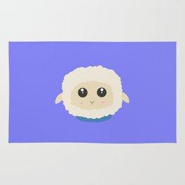 Cute little sheep with blue collar Rug