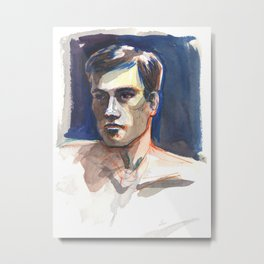 JAMES, Semi-Nude Male by Frank-Joseph Metal Print