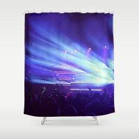 concert Shower Curtains featuring Concert Lights by Tyler Shaffer