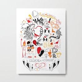 LoveHate Metal Print