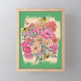 Spring Flower Garden Framed Mini Art Print