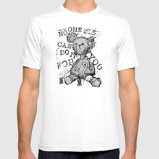 NO ONE ELSE CAN DO IT FOR YOU - grey Mens Fitted Tee SMALL White