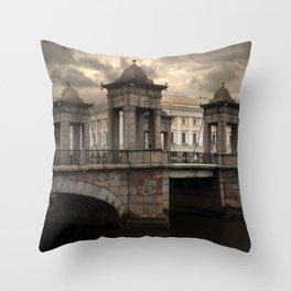 Postcards from Petersburg - Lomonosv Bridge Throw Pillow