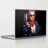 terminator Laptop & iPad Skins featuring Terminator Pixelated by Escobarr