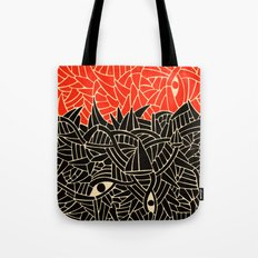 - fall : a red storm and the sea - Tote Bag