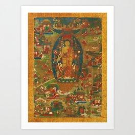 Rubino ed Yoga India 2 Art Print