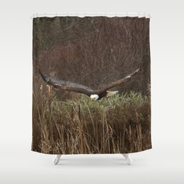 Skimming the reeds Shower Curtain