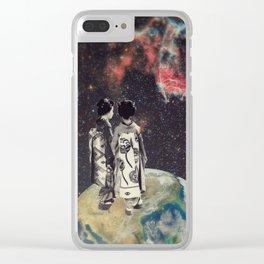 Earth-Jupiter Shuttle... Clear iPhone Case