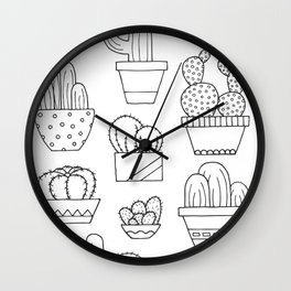 Little Cacti Wall Clock