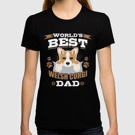 World's Best Corgi Dad Dog Owner T-shirt