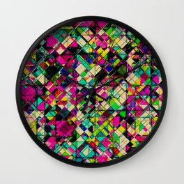 Crystal Cohesion Wall Clock