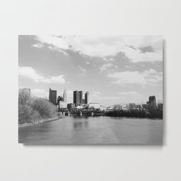 Columbus Ohio 1 - B&W Metal Print