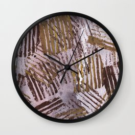 Abstract striped art painting Wall Clock