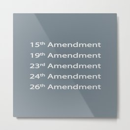 Recognizing Our Right to Vote Metal Print