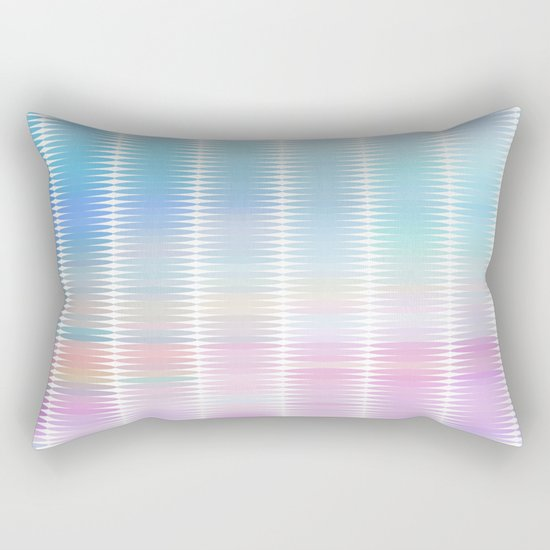 Soft Pastel Oval Geometric Abstract Rectangular Pillow