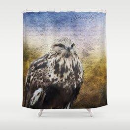 Found Somewhere Between - Bird Art Shower Curtain