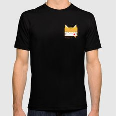 Convo Cats! Wally Mens Fitted Tee Black MEDIUM
