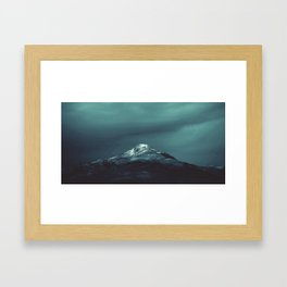 Northern Lights watercolor Framed Art Print