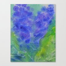Abstract Blue Flower Canvas Print