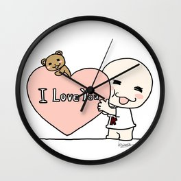 K Young-LOVE Wall Clock