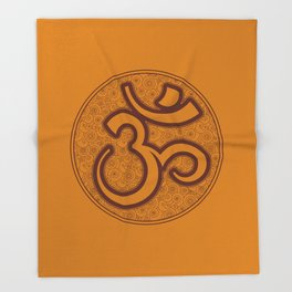 Om Mandala Throw Blanket