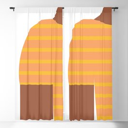 Yellow & Black T-Shirt Blackout Curtain