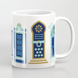 Moroccan Doors – Blue & Gold Palette Coffee Mug