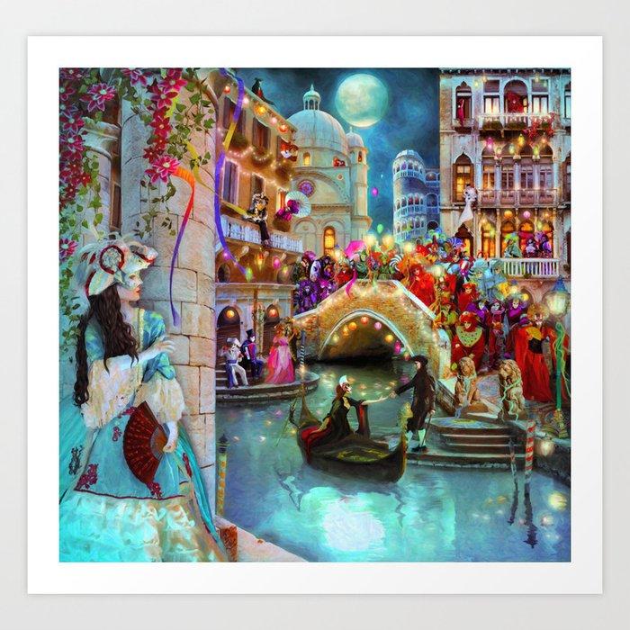 Carnival Moon Art Print