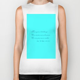 Rememberance, teal Biker Tank