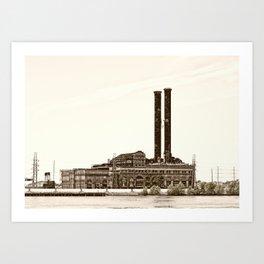 Market Street Power Plant Art Print