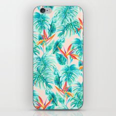 Tropical Paradise Pale Peach iPhone & iPod Skin
