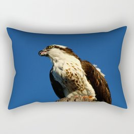 Osprey With His Dinner Leftovers Rectangular Pillow