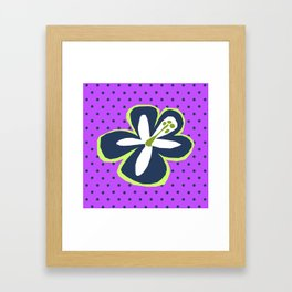 Pokii Hawaiian Hibiscus Flower and Patchwork Designs Framed Art Print