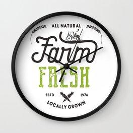 Farm Fresh Locally Grown Wall Clock