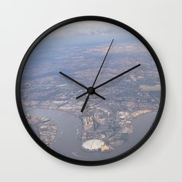 London From The Air Wall Clock