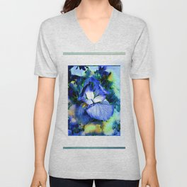 Iris Of The Blues Unisex V-Neck