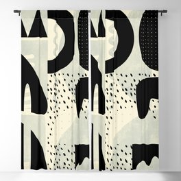 mid century geometric abstract Blackout Curtain