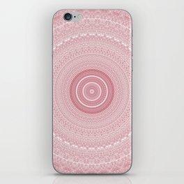 Boho Chic Glittery Pink Pastel Mandala iPhone Skin