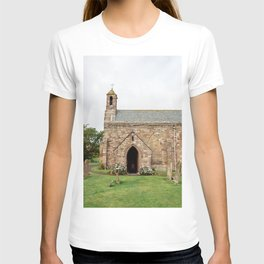 The quintessentially British church of St Mary, on Holy Island in Northumberland. T-shirt