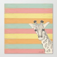 giraffe Canvas Prints featuring Giraffe by Tammy Kushnir