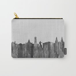Aberdeen, Scotland Skyline - Navaho B&W Carry-All Pouch