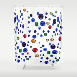 ASSORTED GEMS RAINING Shower Curtain
