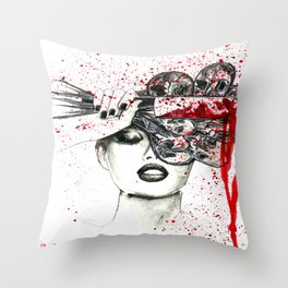 IF YOU CUT FLOWERS THEY DIE. STILL BEAUTIFUL BUT DEAD. Throw Pillow